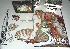 'Birth of Venus' by Botticelli.Clementoni puzzle,4000 pieces. (Piecefull) Tags: botticelli birthofvenus clementonipuzzle progresspuzzle