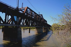 I Street Bridge (Southern Pacific Railroad Bridge) - Sacramento, CA (t55z) Tags: california railroad bridge river drawbridge sacramento swingbridge sacramentoriver truss southernpacificrailroad