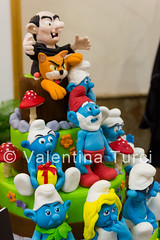 cake design week (Christie_Road_Photos) Tags: italy art colors cake canon eos design italia arte cartoon pasta sugar di napoli naples week tamron smurfs torta fiera esposizione zucchero puffi 550d 1750mm exp