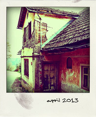 stripped house (irska) Tags: house village oldhouse slovenia poladroid