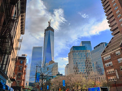 Freedom Tower NYC (Jeffrey Friedkin) Tags: new city nyc newyork building colors architecture outdoors photography photo construction downtown cityscape manhattan famous streetscene newyorker tribeca cityscene freedomtower newyorkphoto