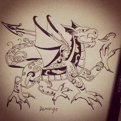 Fantasy's dragon (demiurgo17) Tags: art tattoo sketch dragon arte fantasy fantasia dibujo vector tinta tatuaje boceto imaginacion filogranas
