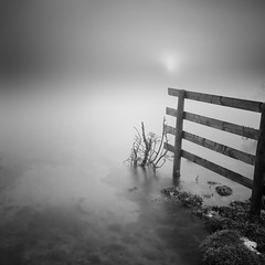 Nebula (MartynHall ) Tags: morning england white mist lake black west water misty fog sunrise fence square temple interestingness big interesting long exposure cornwall 10 south foggy explore stop filter nebula crop moor density stopper bodmin neutral explored colliford