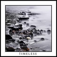 Timeless (Lindi m) Tags: longexposure seascape misty square blackwhite nikon pebbles dorset seashore kimmeridgebay theworldwelivein nd110