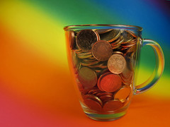 Cup of Change (Batikart) Tags: blue red money macro green art colors lines yellow closeup canon reflections germany table geotagged fun creativity effects deutschland rainbow energy colorful europa europe colours bright coins euro many vibrant patterns sparen joy tranquility happiness indoors fantasy cents dreams choice saving february multicolored makro ursula contrasts currency enjoyment variation wealth finance geld sander g11 moneybox € fellbach finanzen badenwürttemberg swabian spiegelungen wohlstand reichtum münzen währung 100faves eurocents 2013 europeanunioncurrency viewonblack euromünzen batikart canonpowershotg11 201307 coinsineuro