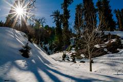 Shima Manali, India (NJ..) Tags: blue shadow sky sun india mountain snow tourism ice canon landscape photography shimla free peak rays manali himachal creativecommon 1000d