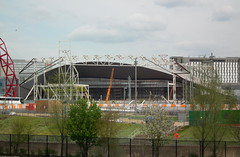 Roof Reveal (dhcomet) Tags: london swimming shell diving aquatic olympics curve stratford reveal 2012 zahahadid