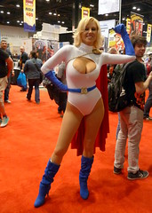 17 (GabboT) Tags: chicago girl nicole costume comic play power expo cosplay cara entertainment convention cleavage cos con powergirl c2e2 2013 caranicole
