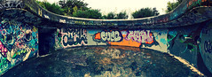 The Bombed Fort . (Alpha Rios) Tags: abandoned graffiti war fort pano sony nz alpha bomb tones rios 2012 urbex bigpun 2013