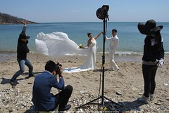 DSC_5466s (Jiang Qi) Tags: beach bride photographer dalian bridegroom 2013 nikonj110mm jiangqistudio