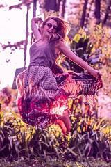 jump for nature (Joo Lavalle) Tags: life wild brazil flores verde smile brasil outside 50mm bokeh outdoor longhair jungle vida campo hippie sorriso floresta cabelo vestido loira morena loveandpeace 50mm18 cachos braziliangirl canoneosdigital hipstergirl jahbless tumblr girlmorena canont3