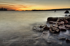 Sydney by Sunset (Bass Photography) Tags: longexposure sunset water rock sydney australia nsw newso
