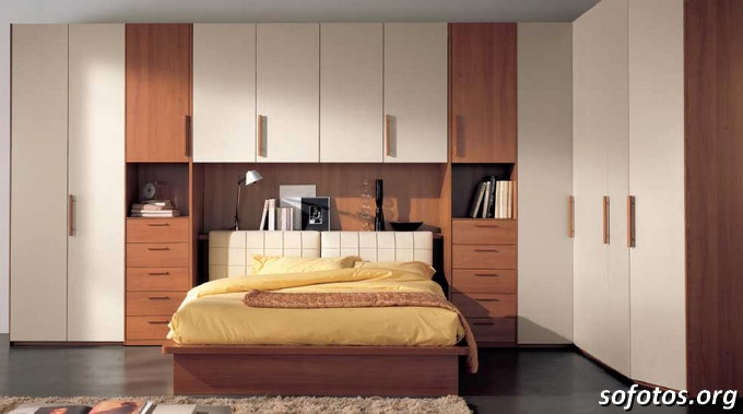 Quarto Casal Planejado Apartamento ~ Fotos de quartos de casal planejados e decorados