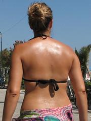 sweaty back girl (320828282) Tags: cute sexy wet girl female back bra rear sweaty bikini sweat behind greasy calor perspiration sudor