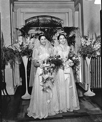 Dorethea and Polly's Double Wedding in Washington, DC, 1930s (vieilles_annonces) Tags: washingtondc thirties 1930s 30s doublewedding scurlockphotography blackwashingtonians