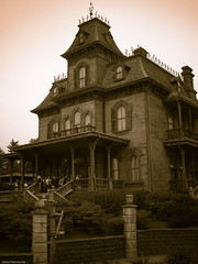 A House with a Dark Secret (k009034) Tags: travel windows house paris beautiful lumix disneyland ghost disney panasonic spooky themepark oldbuilding funpark disneylandresortparis disneylandresort beautifulearth