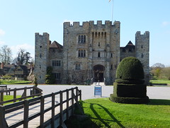 Hever Castle and Gardens, England (Juliette_G) Tags: uk travel flowers england reflection castle history nature gardens architecture kent spring pond hever bushes woodenbridge springwallpaper