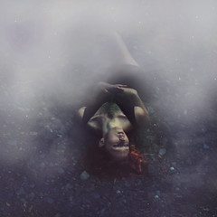 beyond the clouds (Kelsey Elinor) Tags: sky selfportrait clouds stars space manipulation galaxy nebula mystical 365 conceptual stardust expansion 365days brookeshaden