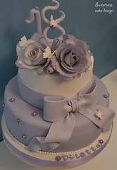Sugar roses and bow cake (sweetness cake design) Tags: flower cake bow gumpaste