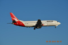 Qantas B737-400 VH-TJI Melbourne Tullamarine 09 May 2013 (denmac25) Tags: blue pacific air australian melbourne virgin express qantas tullamarine b737