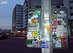 bacau_combo2 (ScoRe21:WoTS!) Tags: street city art by graffiti sticker romania score combo bacau