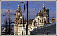 Maritime City (The Old Brit) Tags: heritage skyline architecture port liverpool docks cityscape seagull gull ships towers clocktower compression telephoto maritime dome threegraces masts tallships pierhead albertdock seaport sailingships liverbirds merseyside royalliverbuilding publicclocks portofliverpoolbuilding cunardbuilding mannisland shipsmasts maritimeheritage ancientmodern merseydocksbuilding