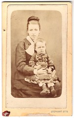 Anya gyermekvel - Mother with her child (fotobarat966) Tags: portrait child mother otto cdv magyar anya stephany hungarian portr gyermek vizitkrtya