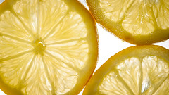 Lemons Slices (mattwilliamsphotography) Tags: lighting macro glass yellow fruit table back juicy shoot lemons through slices