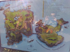 Vallisaari - Kunninkaansaari's map (::Tanty::) Tags: 2016 finland helsinki vuosaari nationalpark friends