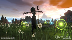 Druid, mage and healer of Crowfall MMORPG - screenshot (JamesGoblin) Tags: crowfall mmo mmorpg pvp game gaming pc voxels vr virtual reality koster sandbox medieval fantasy gameofthrones eveonline eve illustration entertainment fun computers cyberculture online crowdfunding kickstarter games onlinegames videogames voxel proceduralgeneration procedural virtualreality computer rpg poster art multiplayer druid girl woman concept girls women female females skirt sexy magic mage sorceress sorcery wild nature staff stave staves green wallpaper wallpapers posters screen screenshot screenshots meadow flower casting flowers orbs magicorbs sky skies