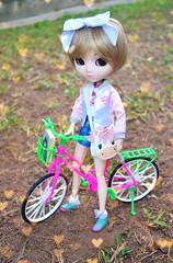 Day 7 Tsubasa (mari.furtado) Tags: pullip hello kitty kawaii doll bike pink jun planning sanrio