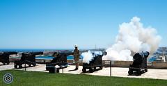 Fire! (Michael N Hayes) Tags: malta valletta mediterranean europe salutingbattery upperbarrakkagardens summer fujifilmxpro1 sea culture city