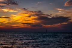 DSC_5938 (briansterken) Tags: outdoor sunset sea seaside shore sky landscape lake ocean water cloud beach boat michigan lakemichigan puremichigan vehicle dusk sailboat