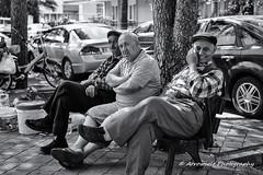 Street 162 (`ARroWCoLT) Tags: street streetphotography sokak adam rest bench arrowcolt samsung nx man bus sidewalk people old cap hat photography face outdoor monochrome blackwhite siyahbeyaz streetseller nx300 balkesir burhaniye farmer ifti shiny bright day sharp trkiye turkey turquie turkie 30mm f2