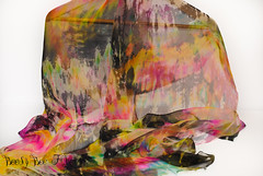Abstract #1-1 (beesybee) Tags: felting handdyedscarf handdyedsilkfabric nunofeling scarf shibori silkchiffon silkfabric