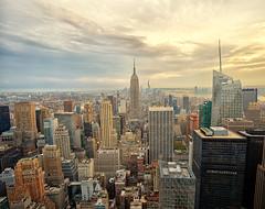Lower Manhattan (Kar|ino) Tags: ny new york manhattan lower skyscraper rockefeller view clouds urban building nikon carlo renatti