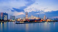 Look at Yokohama (DOZEN FREEZE) Tags: japan yokohama city bay harbour nikon df 24mm f14g nano building tower night longexposure