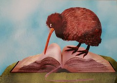 Reserved Kiwi Willy Puchner (DymphieH) Tags: postcards offer2016 books birds