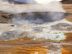 Iceland - fire and ice (unukorno) Tags: norurlandeystra island smoke steam mudpot sulphur solfatare geothermalarea fumaroles