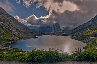Stormy time in heaven. The Col du Grand Saint Bernard , Grate Saint Bernard Pass. No. 2352.
