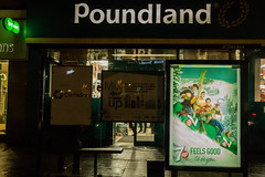 IMG_5414.jpg (clayjon61) Tags: streetphotography london citynight city night advertising 7up busshelter busstop poundland