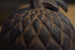 Macro Picture- Acorn statue (MelanieSaundersArt) Tags: wide angle action telephoto picture macro focal length womans soccer flowers tree acorn statue two pumpkins scarecrow