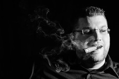 Agree (matthasaname) Tags: d2xs smoke smoker smoking cigar cigarportrait selfportrait people