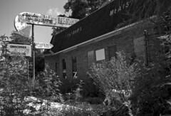 Grocery Store (PositiveAboutNegatives) Tags: leica leitz sl leicaflexsl leicaflex vintagecamera abandoned empty vacant derelict deserted film analog rollei 80s bw blackandwhite filmphotography leicar 50mmsummicron coolscan citra florida