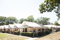 (gwoolston) Tags: summer seashore tents landscape shore oceangrove jerseyshore