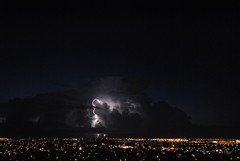 SUMMER STORM OVER THE CITY (concep1941) Tags: sky clouds storms lightning nature pano outdoor