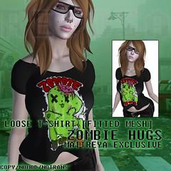 REVOSA Loose T-Shirt [Zombie Hugs] - Maitreya (merylimperil) Tags: revosa second life tshirt maitreya mesh zombie goth hugs cute