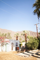(gwoolston) Tags: socal california palmsprings korakia pool palmtrees moroccan sun morning bocce architecture mountain sky desert
