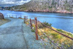 Rusted Post leading down from Fort Amherst. (Ross A Craig) Tags: stjohnsnewfoundland canadian navy united states hmcs fredericton athabaskan signal hill