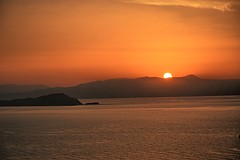 Sunset in Crete. (Tungmay is back, trying to catch up.) Tags: sunset sea mountain crete krete greece sun chania